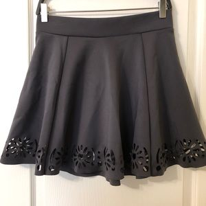 H&M dark grey skirt with cutouts🌺 Size 10